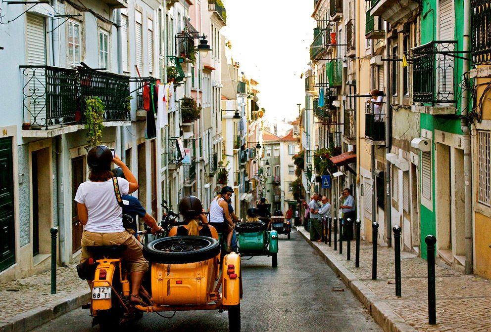 Lisbon Photography Vintage Motorcycle Sidecar Tour