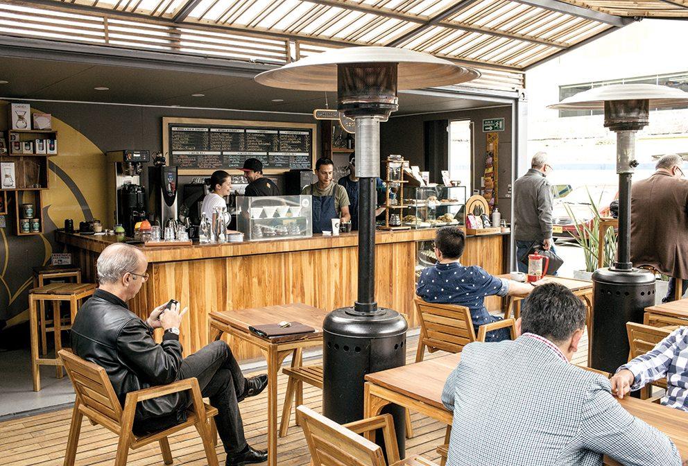 Azahar coffee shop, Bogotá