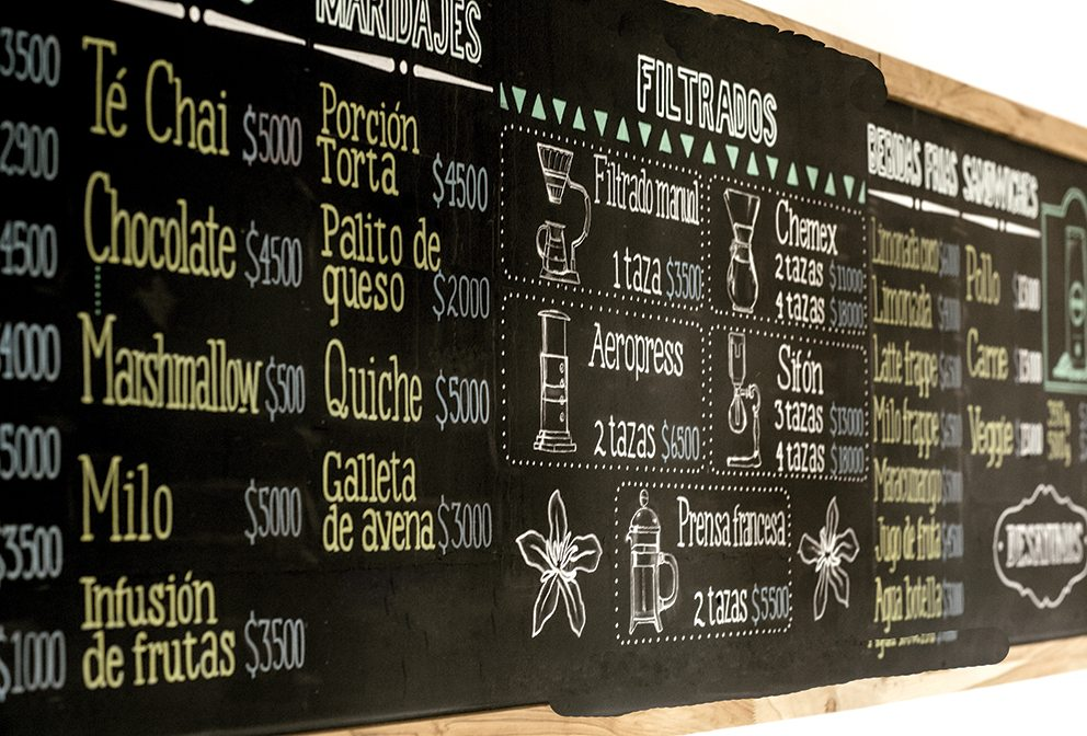Bourban Coffee Roasters menu