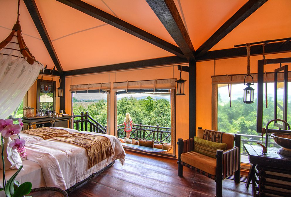 Deluxe Tent Four Seasons Tented Camp Golden Triangle