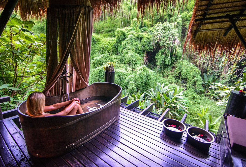 Private hot tub Four Seasons Tented Camp Golden Triangle