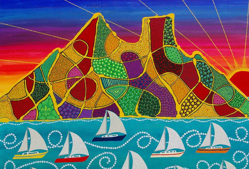 Alain Despert Bora Bora artwork