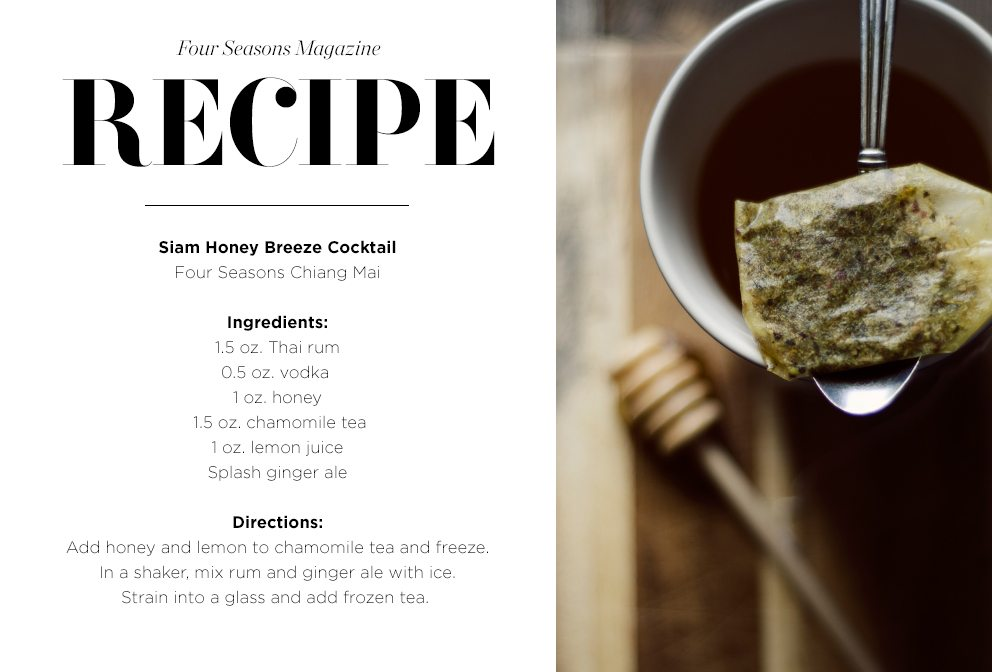 Recipe card for Siam Honey Breeze cocktail