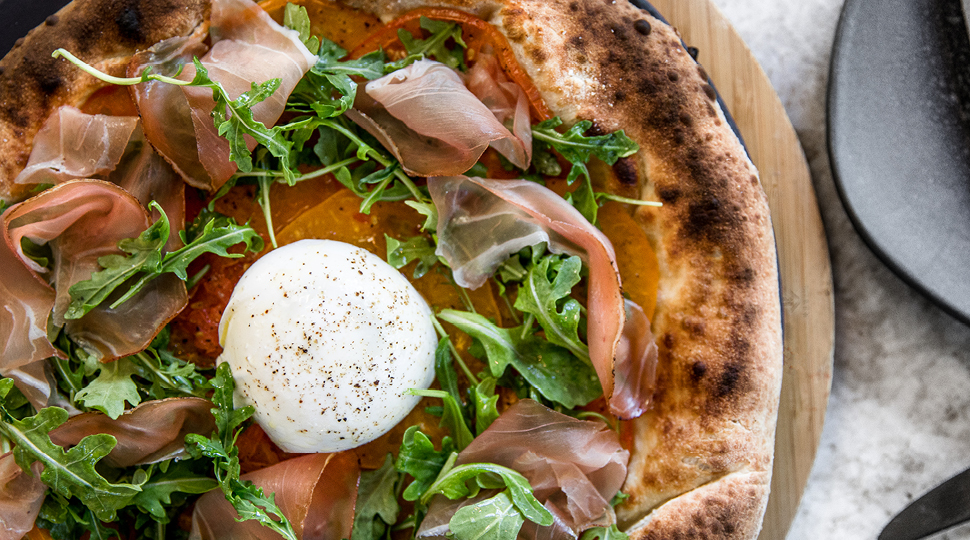 Burrata Pizza With Spec