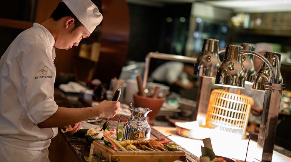 Doha Chef Setting Up Brunch