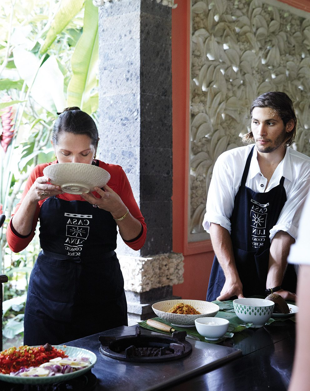 Cooking class taken by Janet DeNeefe at Casa Luna, Ubud, Bali