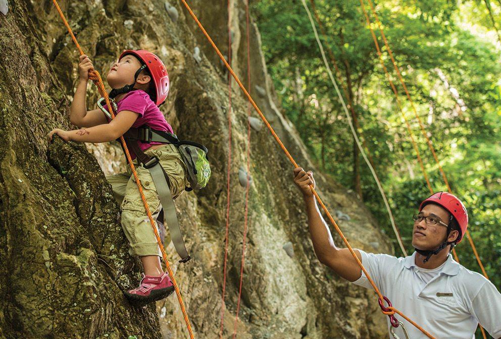 Langkawi kids rock climbing