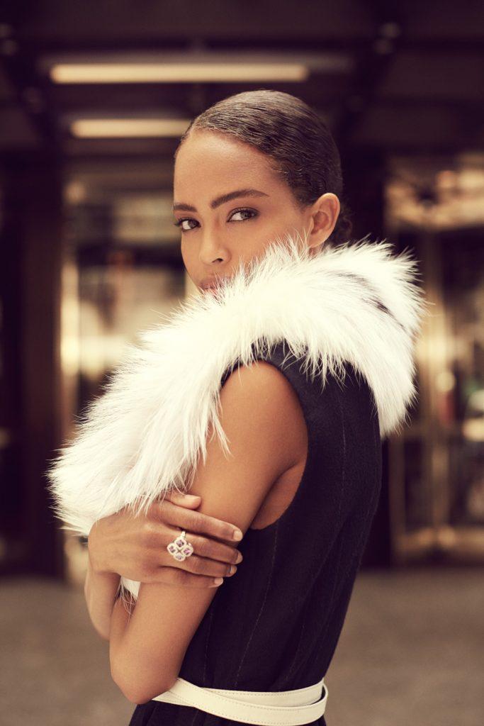 Woman in fur in New York City