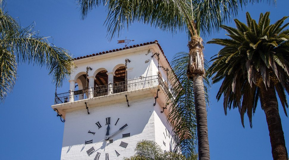Santa Barbara Courthouse Clock tower