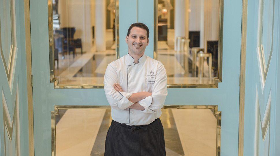 A chef at La Patisserie