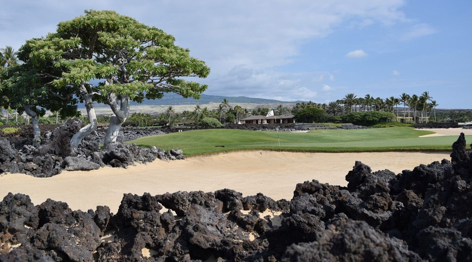 Golf course are Four Seasons Hualalai