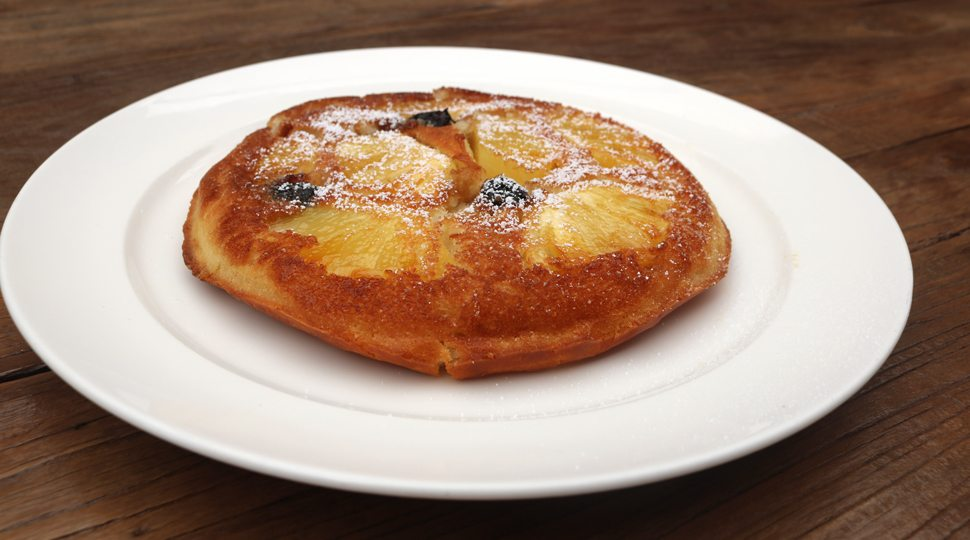 Pastry on a white plate