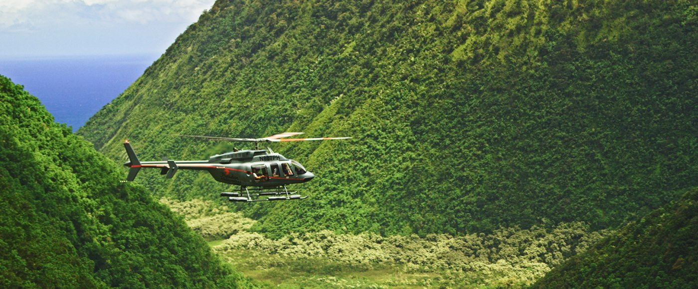 Helicopter in Maui