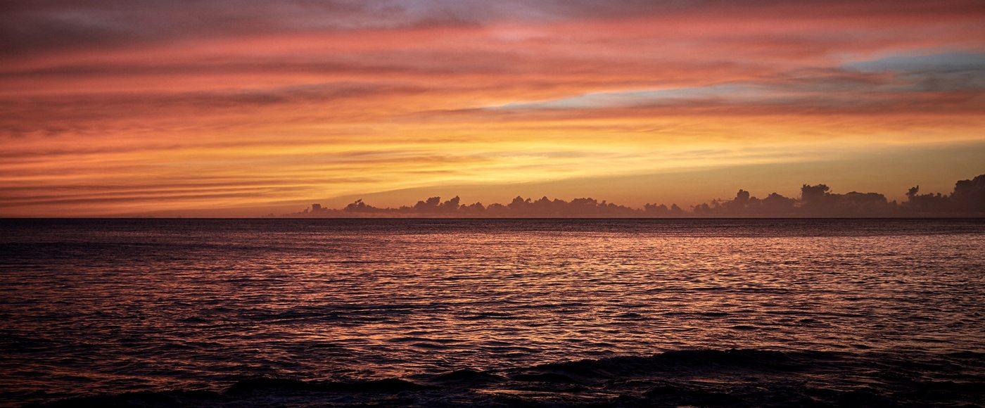 Sunset in O'ahu