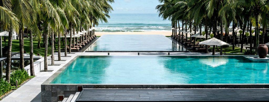 Infinity pool by ocean