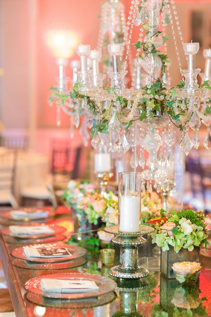 An ornate table setting in Palm Beach