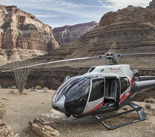 Helicopter near Grand Canyon