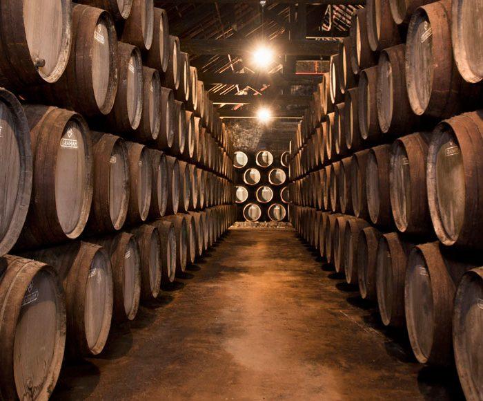 Wine cellar at Graham's Port winery