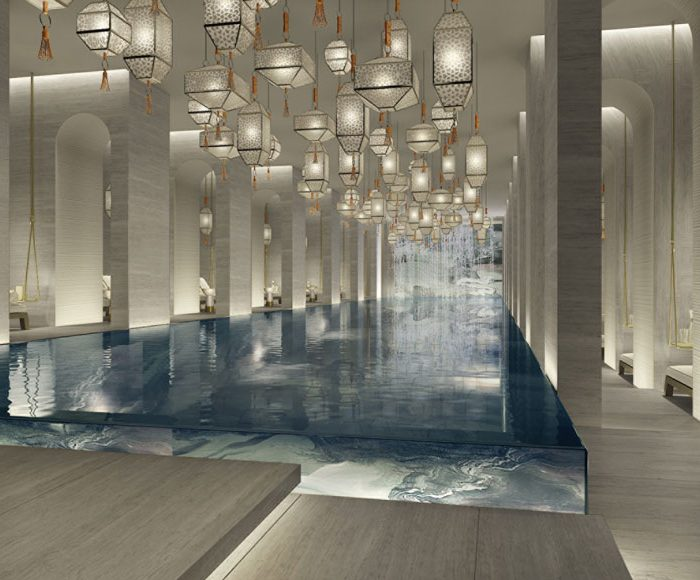 The pool at Four Seasons Hotel Kuwait