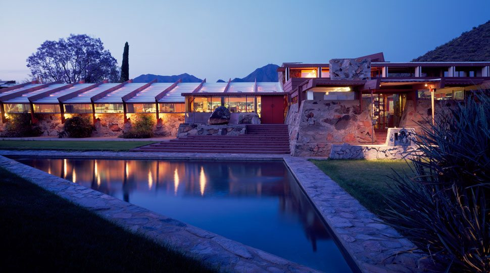 Taliesin West, National Historic Landmark, in Scottsdale