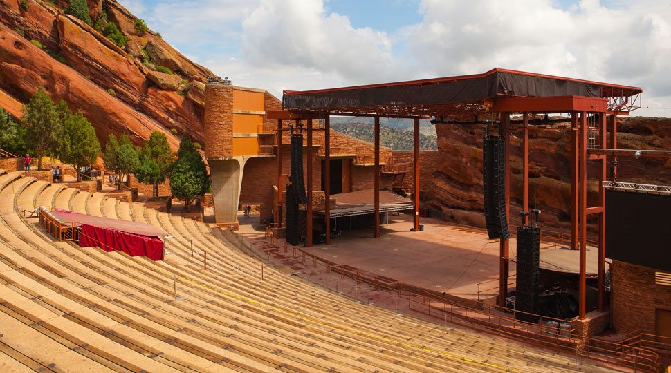 Red Rock Amphitheater in Colorado