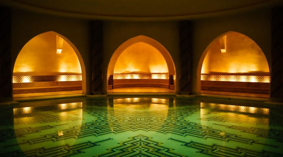 Interior of the Hammam (Baths), Mosque Hassan II, Casablanca, Morocco