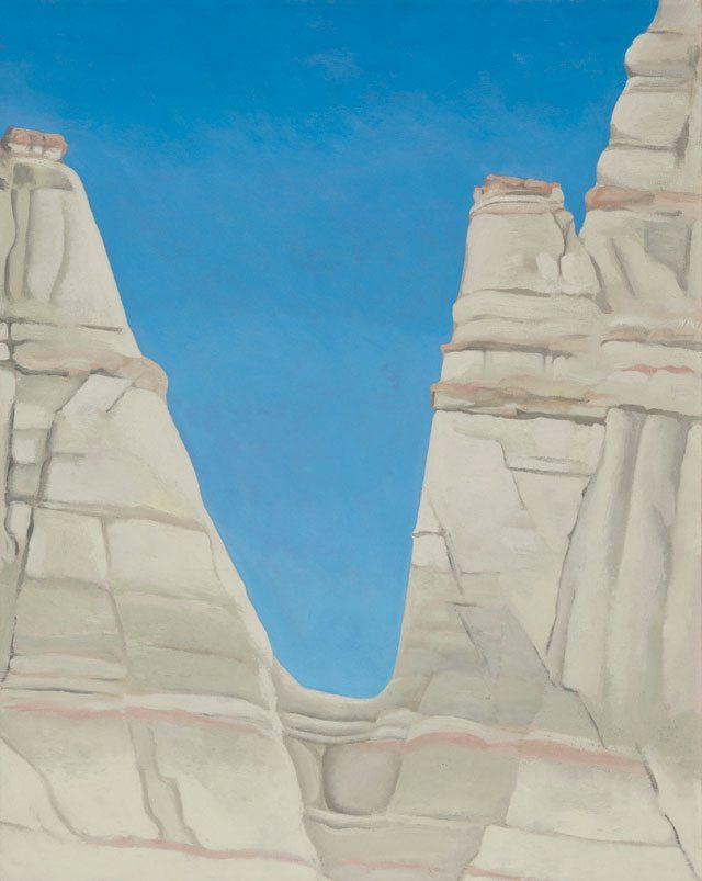 Georgia O'Keeffe's The White Place in the Sun (1943). On display at the Art institute of Chicago.