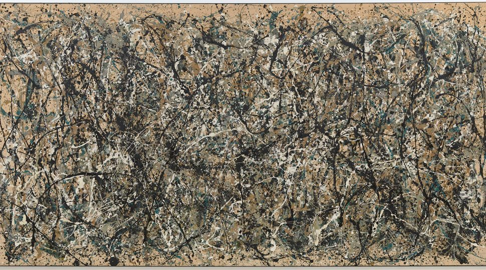 Jackson Pollock's One: Number 31, 1950. On Display at the Museum of Modern Art.