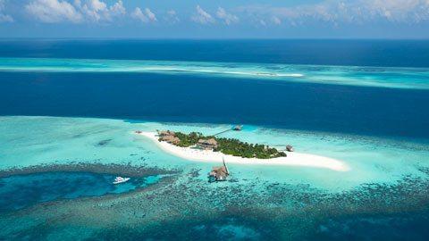 Fuja para uma ilha particular nas Maldivas