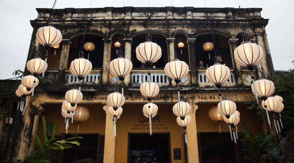 Exterior lanterns in Hoi An