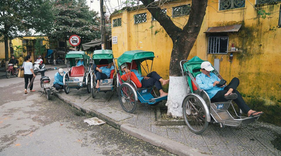 Rickshaws in Hoi An