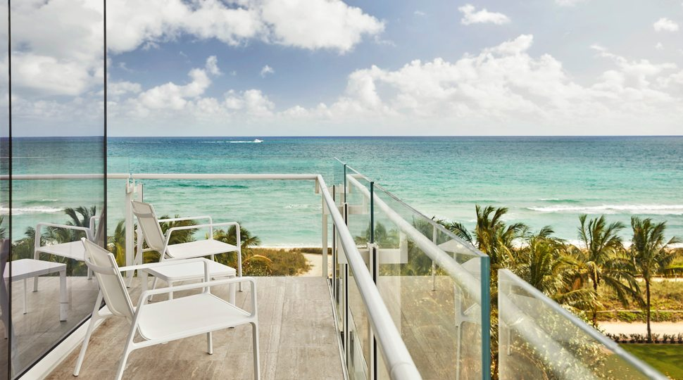 An ocean view from a suite at the Four Seasons Surf Club resort