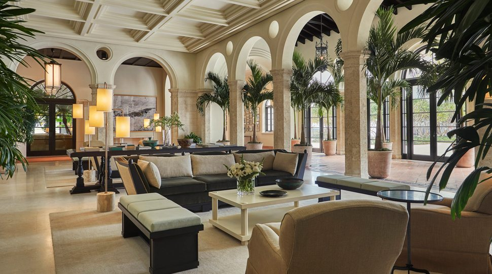 Open lobby of the Four Seasons Surf Club