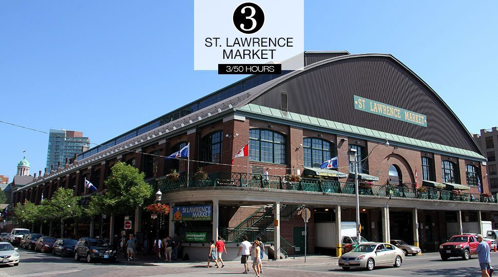 The exterior of St. Lawrence Market, Toronto.