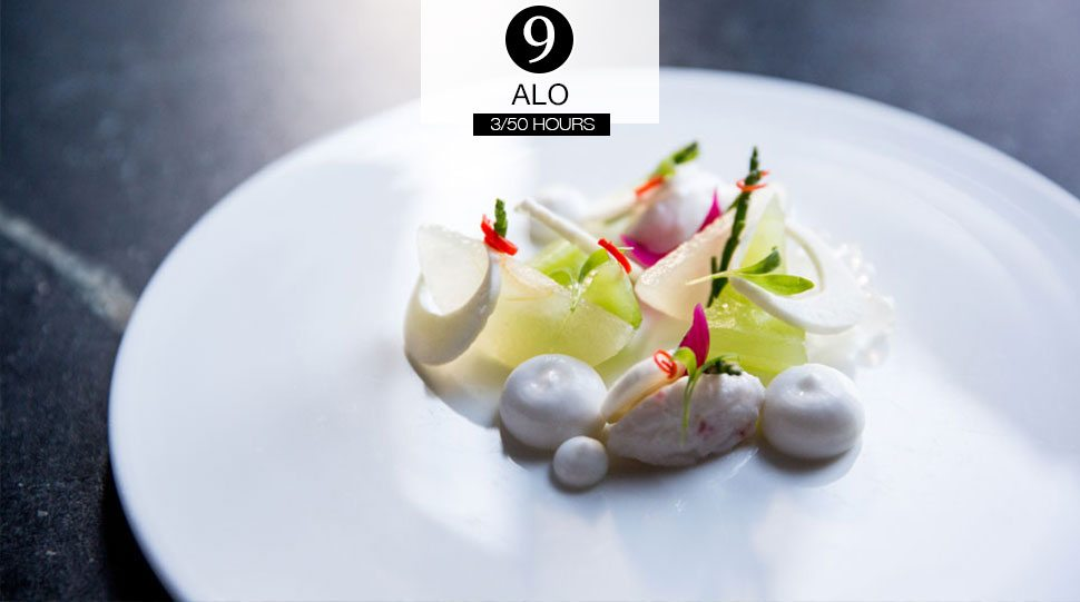 A plated dish at Alo, a Toronto restaurant.