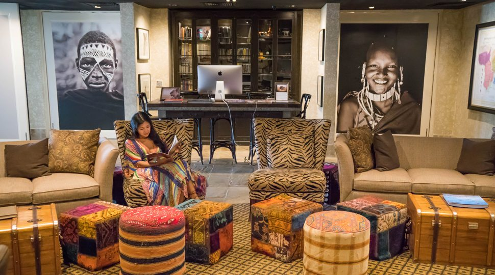 Marcy Yu at the Maasai Discovery Centre in Four Seasons Serengeti