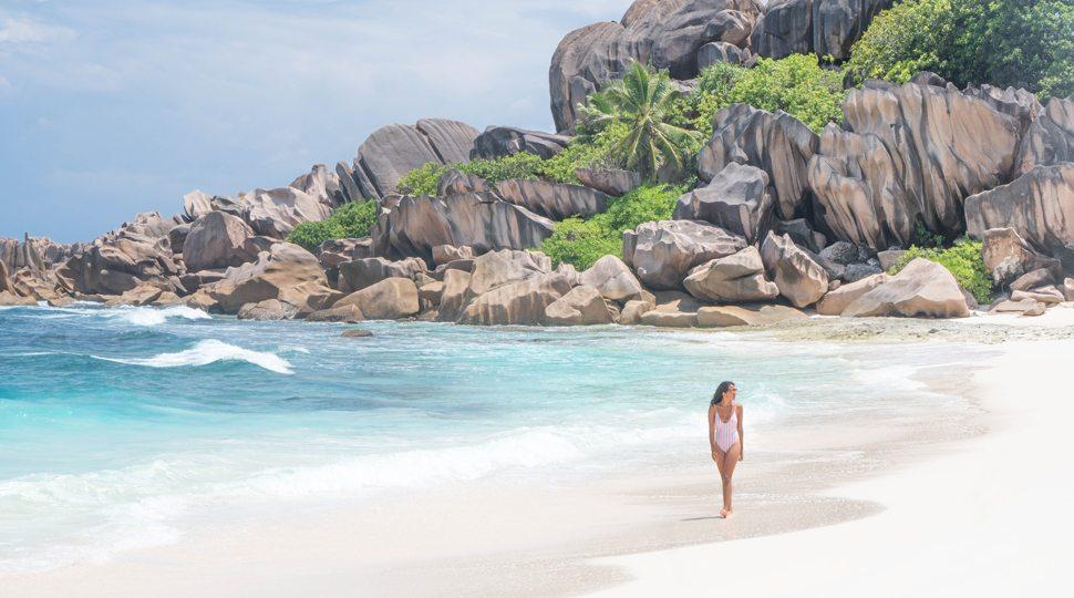 Grand Anse beach near the Four Seasons Seychelles