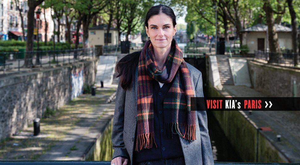 A woman in Paris