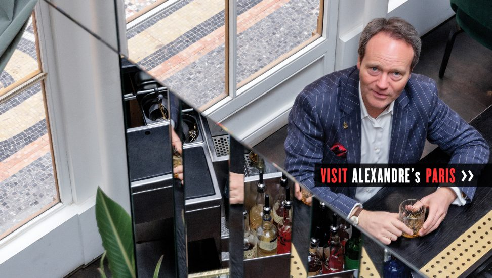 Alexandre Gabriel makes award-winning cognac and other spirits under the Maison Ferrand label. Each week, he takes a 3.5-hour train ride from Cognac to spend the weekend in Paris with his wife, Debbie, and their three children.