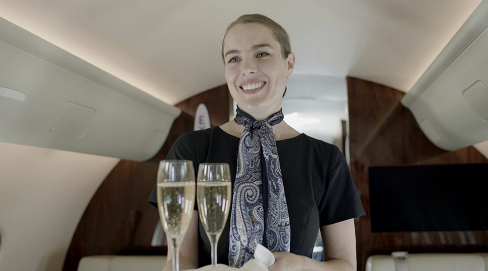 NetJets Flight Attendant Bayley Charbonneau