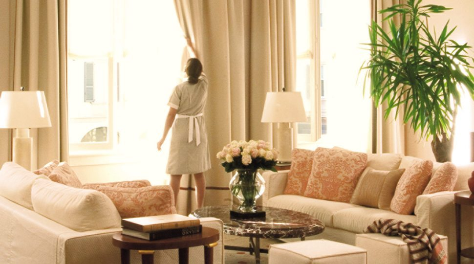 A housekeeper at Four Seasons Hotel Milano