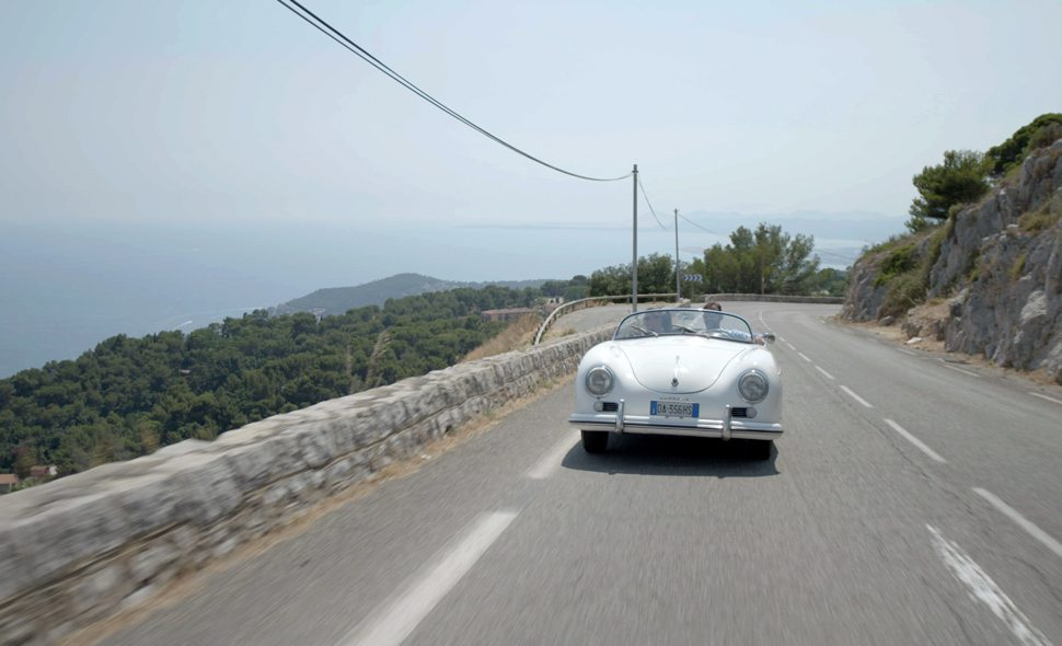 Driving along the coast of the French Riviera