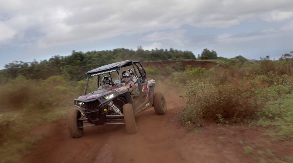A UTV off-roading excursion through Lanai