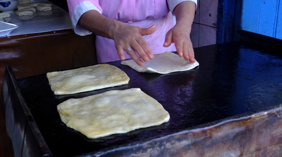 Bread on the griddle