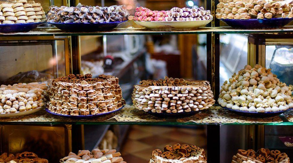 Display of pastries