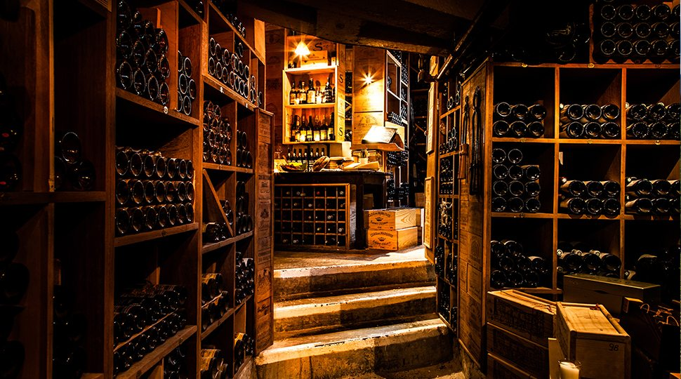 Wine cellar at Four Seasons Hotel George V, Paris