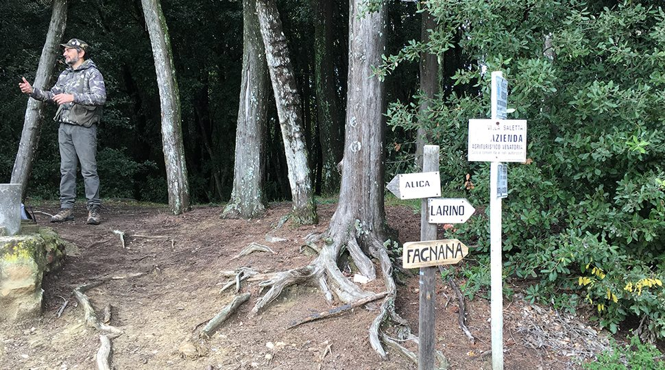 The site of the truffle hunting in Tuscany