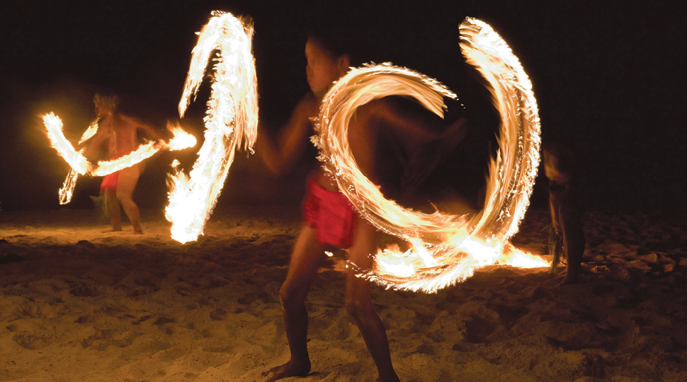 Fire Dance In Bora Bora