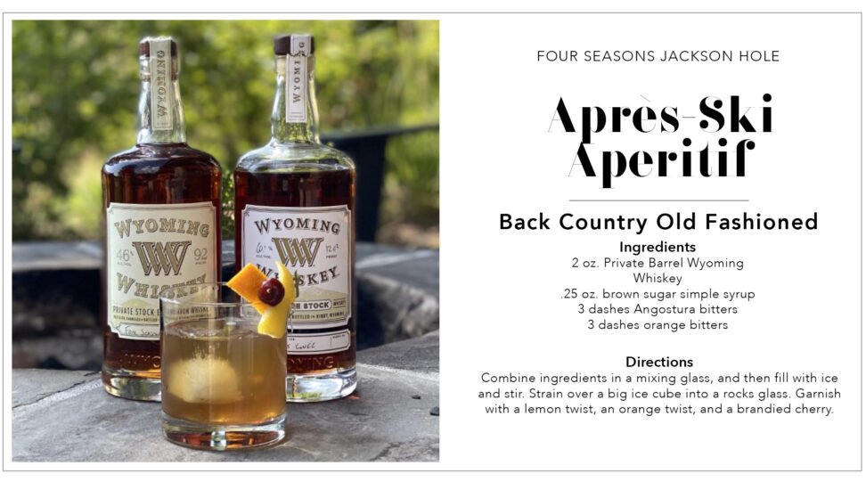 Jackson Hole Cocktail Recipe Card