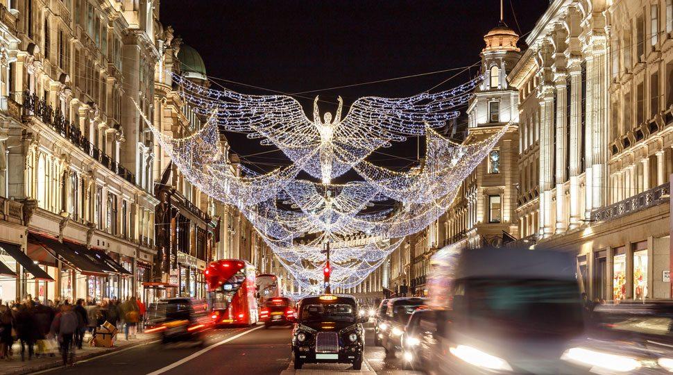 Mayfair, London Christmas lights